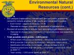 environmental natural resources cont