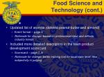 food science and technology cont