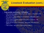 livestock evaluation cont