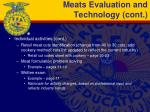 meats evaluation and technology cont