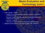 meats evaluation and technology cont1