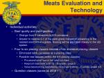 meats evaluation and technology
