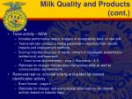 milk quality and products cont