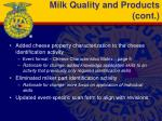 milk quality and products cont1