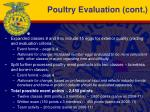 poultry evaluation cont