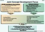 joint concept development focus
