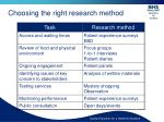 choosing the right research method