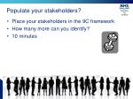 populate your stakeholders