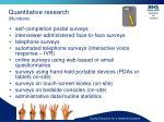 quantitative research numbers