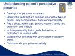 understanding patient s perspective personas