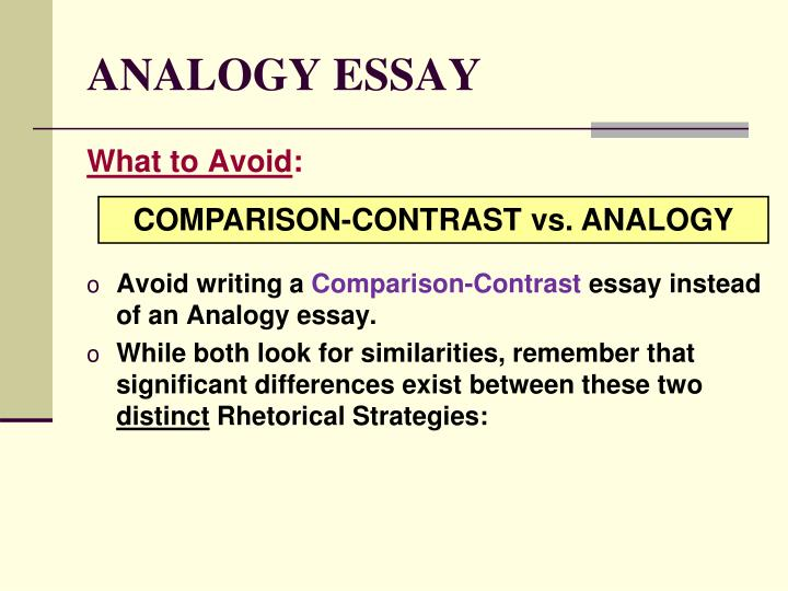 ANALOGY ESSAY