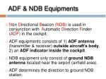 adf ndb equipments