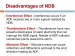 disadvantages of ndb1