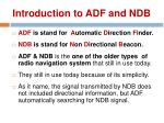 introduction to adf and ndb