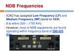 ndb frequencies