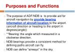 purposes and functions
