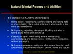 natural mental powers and abilities1