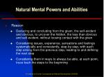 natural mental powers and abilities10