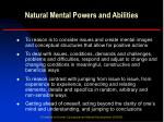 natural mental powers and abilities12