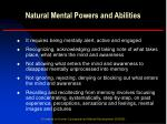 natural mental powers and abilities14