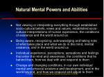 natural mental powers and abilities2