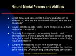 natural mental powers and abilities5