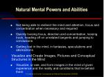 natural mental powers and abilities7