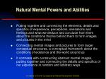 natural mental powers and abilities8
