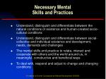 necessary mental skills and practices1