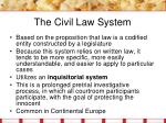 the civil law system