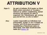 attribution v