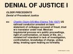 denial of justice i