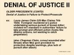 denial of justice ii