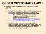 older customary law ii