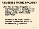 remedies more broadly