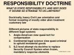 responsibility doctrine