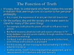 the function of truth