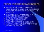 forge vendor relationships