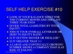 self help exercise 10