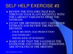 self help exercise 3