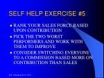 self help exercise 5