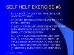 self help exercise 6
