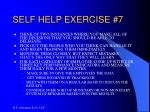 self help exercise 7