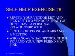 self help exercise 8