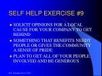 self help exercise 9