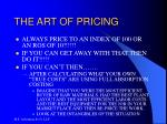 the art of pricing