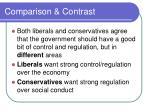 comparison contrast