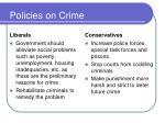 policies on crime