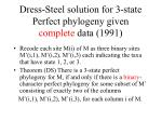 dress steel solution for 3 state perfect phylogeny given complete data 1991