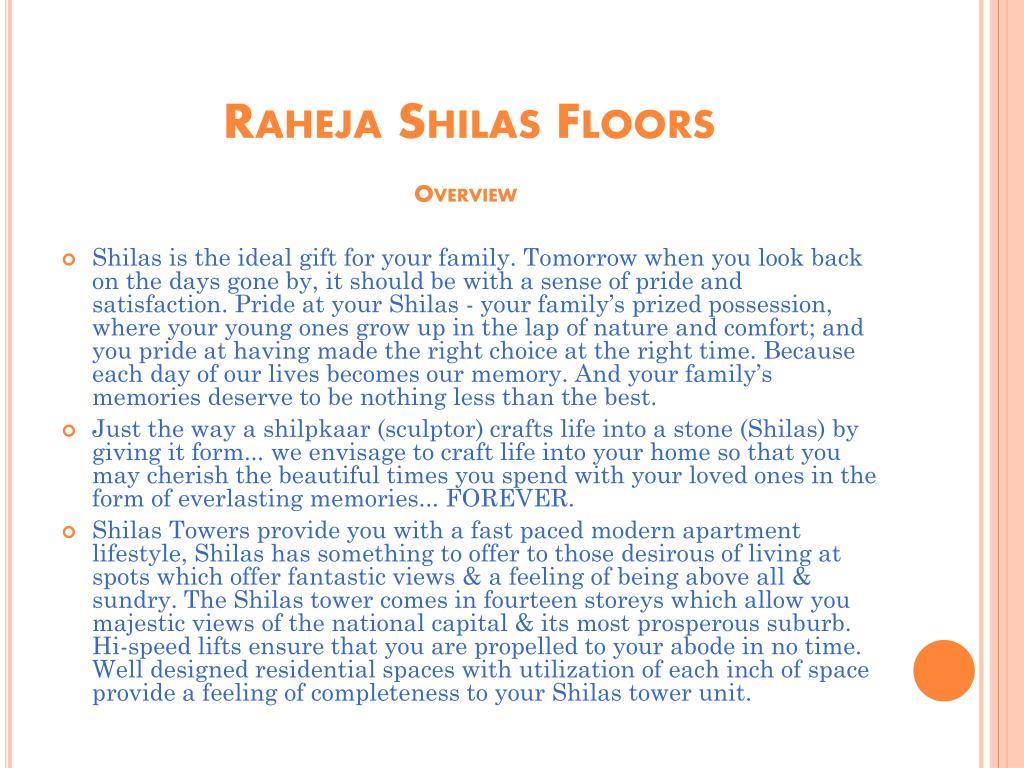 Raheja Shilas Floors
